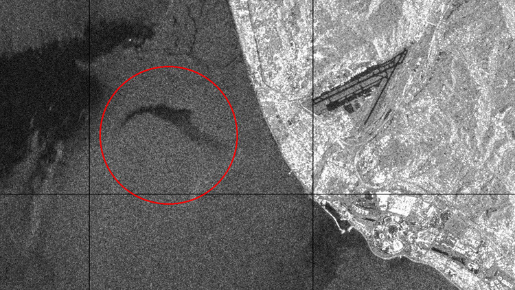 Publican una imagen de satélite de la zona del accidente del Tu-154