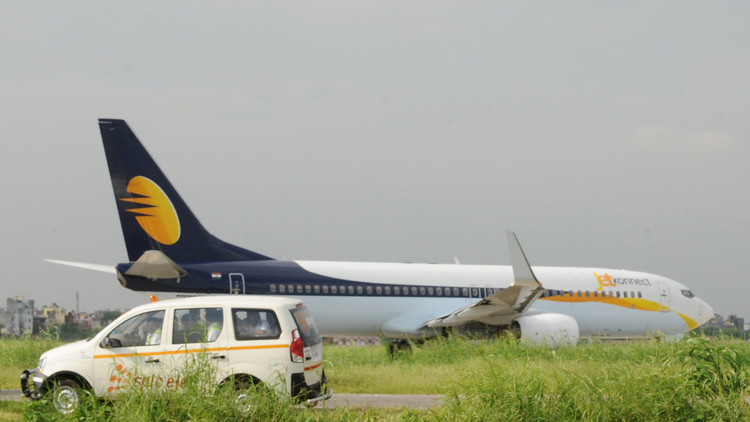 VIDEO: Un avión de Jet Airways con 154 personas a bordo derrapa fuera de pista en Goa