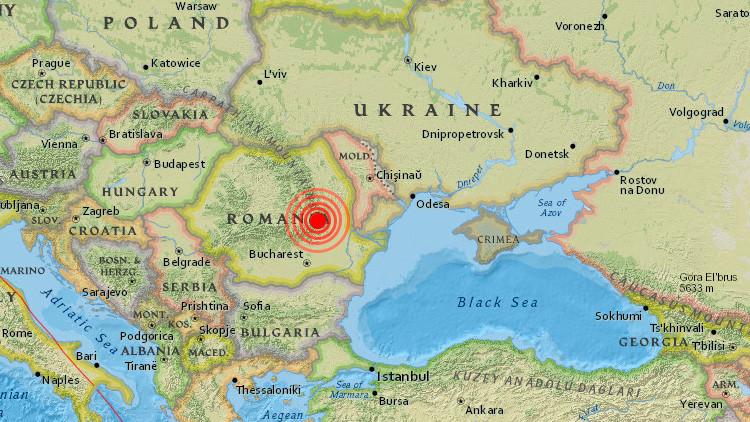 Un sismo de magnitud 5,6 sacude el este de Rumanía