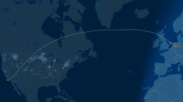 Un vuelo de KLM entre Los Ángeles y Ámsterdam se declara en emergencia