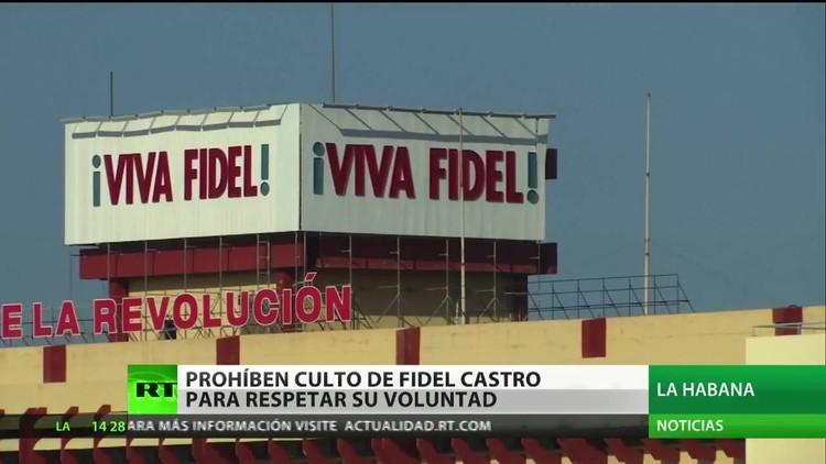 Cuba prohibe el culto de Fidel Castro para respetar su voluntad