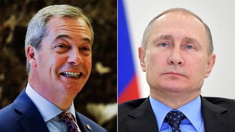 """Nigel Farage: """"Me agrada ver la madura respuesta de Putin a las sanciones de EE.UU."""""""