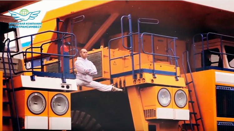 VIDEO: Un joven supera la espectacular acrobacia de Van Damme entre dos camiones