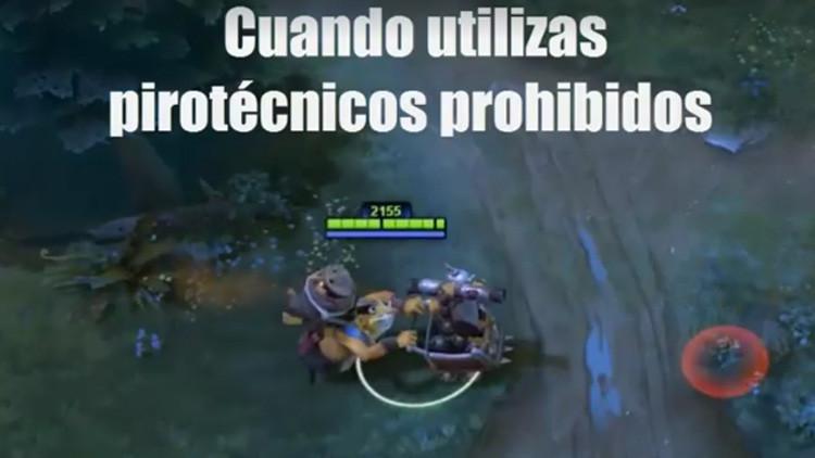 Video: La Policía de Perú recurre al videojuego Dota 2 para censurar el uso de pirotecnia ilegal