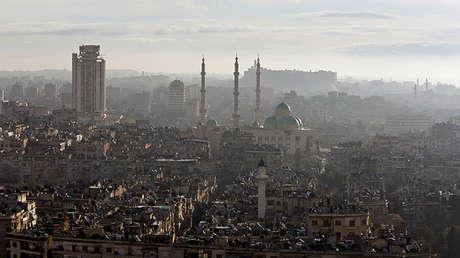 Panorama de Alepo, el 2 de diciembre de 2016