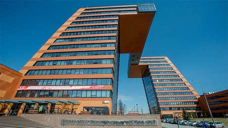 El centro de tecnologías 'Akadempark' en la ciudad siberiana de Akademgorodok, Rusia.