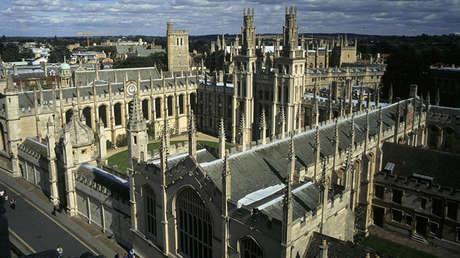 La vista del Colegio Brasenose de la Universidad de Oxford, Oxford, Reino Unido.