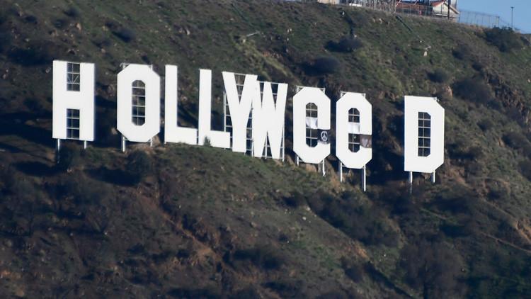 'HOLLYWEED': Un bromista 'retoca' el famoso letrero de Los Ángeles en Año Nuevo