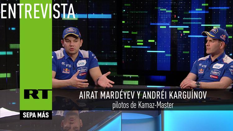 Entrevista con Airat Mardéyev y Andréi Karguínov, pilotos de Kamaz-Master