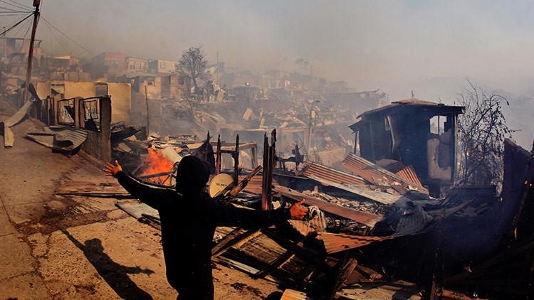 Emergencia en Chile: Voraz incendio pone el alerta roja la región de Valparaíso (FOTOS, VIDEO)