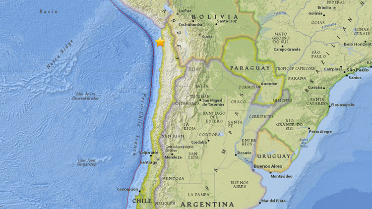 Un sismo de magnitud 5,4 sacude Chile