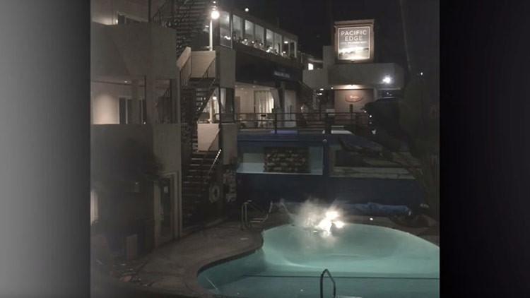 Escalofriante video: un 'youtuber' salta a una piscina y se fractura ambas piernas