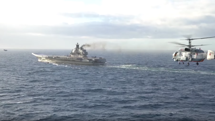 Impresionante video de las operaciones del Admiral Kuznetsov frente a Siria