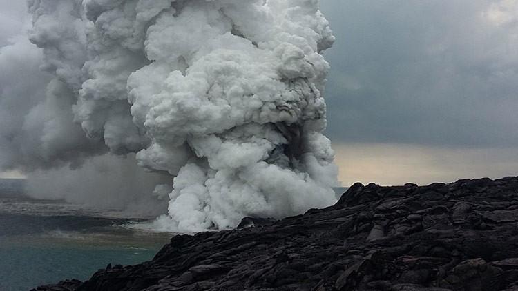VIDEOS IMPACTANTES: un gran fragmento de Hawái se cae al océano