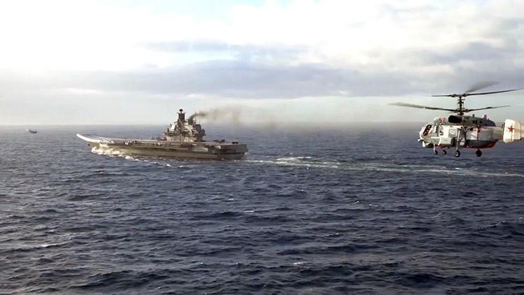 Rusia anuncia la salida del portaaviones Admiral Kuznetsov de Siria