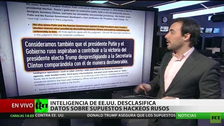 La Inteligencia de EE.UU. desclasifica datos sobre presuntos 'hackeos' rusos