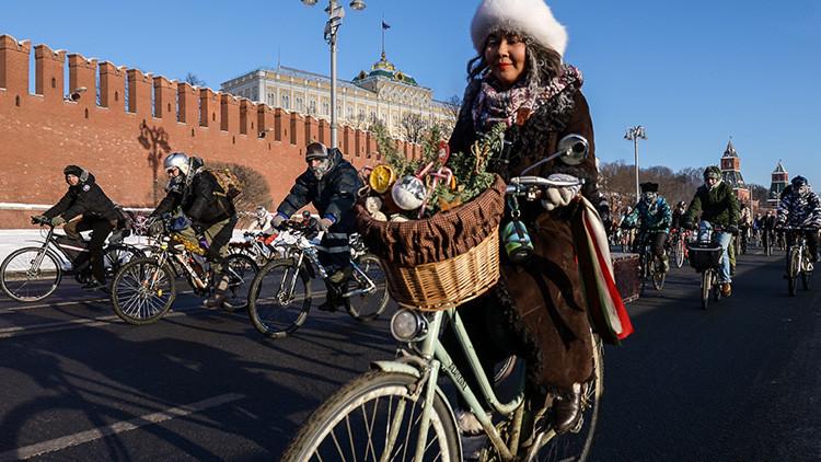 Organizan en Moscú una carrera de bicicletas a  -28ºC (VIDEO, FOTOS)