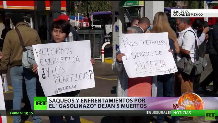 México: Saqueos y enfrentamientos por el 'gasolinazo' dejan 5 muertos