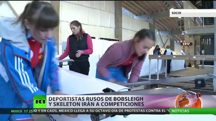 Deportistas rusos de bobsleigh y skeleton irán a las competiciones