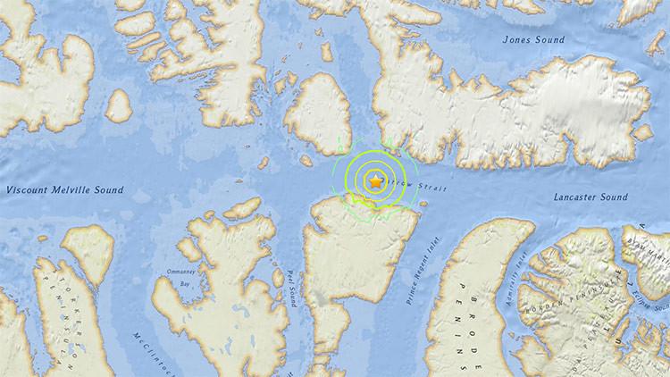 Un sismo de magnitud 5,8 sacude el norte de Canadá