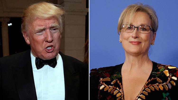 La disputa que hizo estallar Twitter: Así responde Trump a las críticas de la actriz Meryl Streep