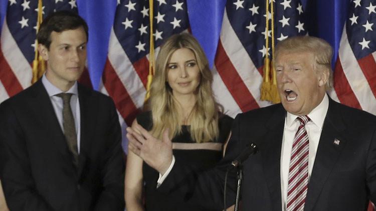 El yerno de Trump será el consejero principal de la Casa Blanca