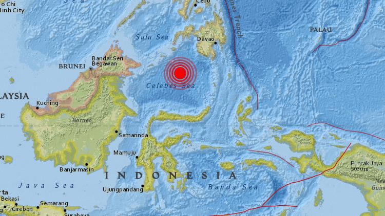 Se registra un sismo de magnitud de 7,3 entre Indonesia y Filipinas