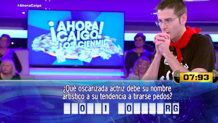 """""""Tongo"""": Así se quedó sin 100.000 euros un concursante del programa español 'Ahora Caigo'"""