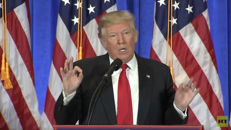 """Trump, sobre el informe de CNN y Buzzfeed que lo compromete: Es """"falso"""" y está hecho por """"enfermos"""""""
