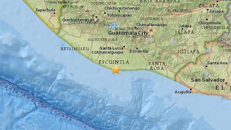 Se registra un sismo de magnitud  5,3 en Guatemala