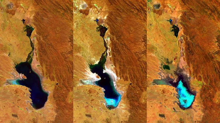 El desaparecido lago boliviano Poopó vuelve a tener agua (FOTOS)