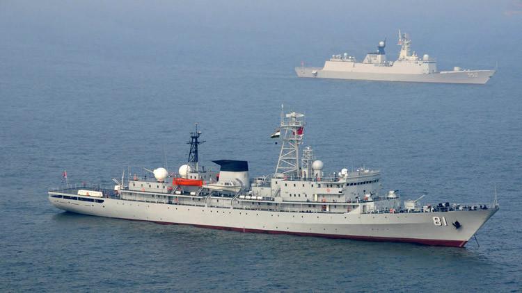China anuncia por primera vez la botadura de un buque de inteligencia electrónica