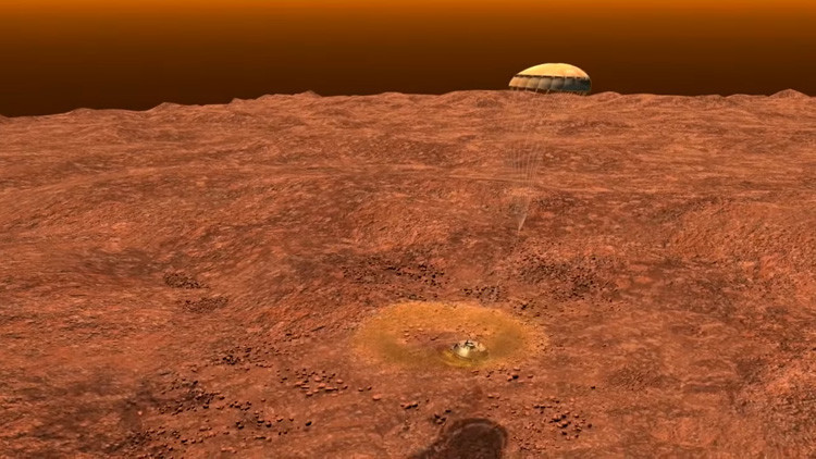 La NASA revela un video sobre el histórico aterrizaje en Titán