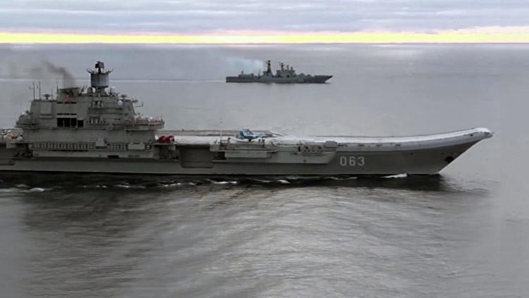 Buques británicos escoltarán al portaaviones ruso Admiral Kuznetsov