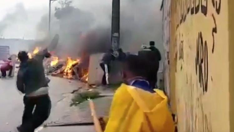 VIDEO: Manifestantes contra un desalojo arrojan cócteles molotov a la Policía de Sao Paulo