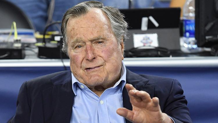 """George H. W. Bush a Donald Trump: """"Si voy a su toma de posesión acabaré en una tumba"""""""