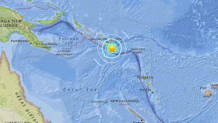 Un fuerte terremoto de magnitud 6,8 sacude las Islas Salomón
