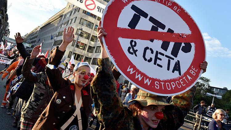 """Movilizaciones en toda Europa para frenar el CETA, el """"caballo de Troya"""" del TTIP"""
