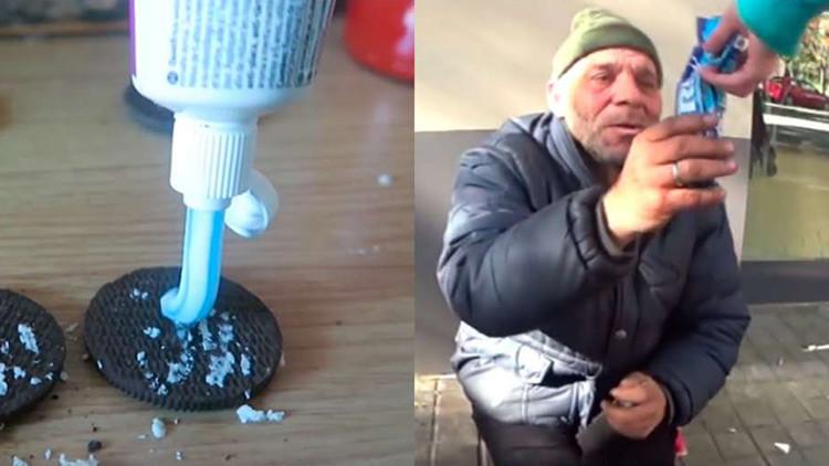 Un 'youtuber' que dio galletas con pasta dental a un indigente indigna a la Red