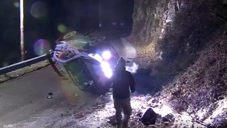 Un espectador muere en un accidente en el rally de Montecarlo (FUERTES IMÁGENES)
