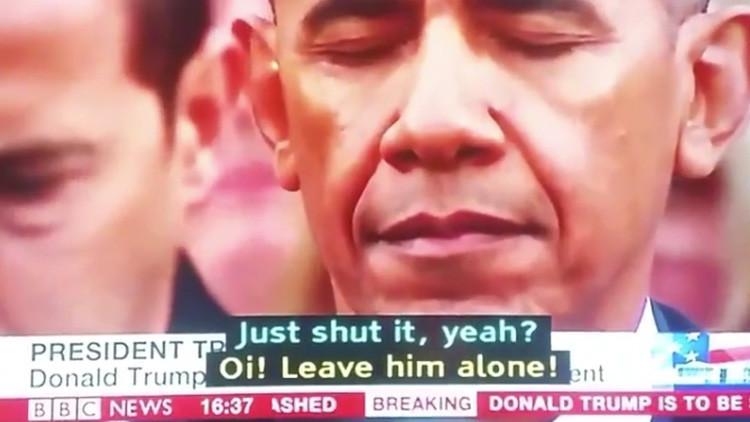 """""""Cállate ya"""": Internauta denuncia a BBC por poner subtítulos erróneos para la investidura de Trump"""