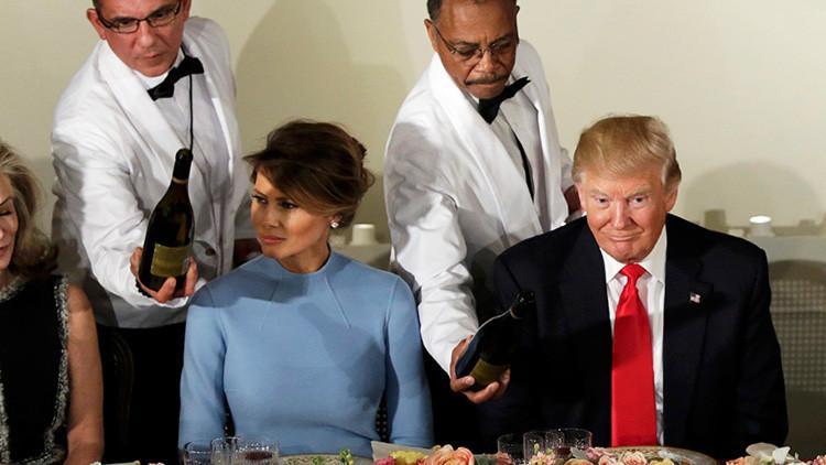 Este fue el menú del primer almuerzo de Trump como presidente de EE.UU.