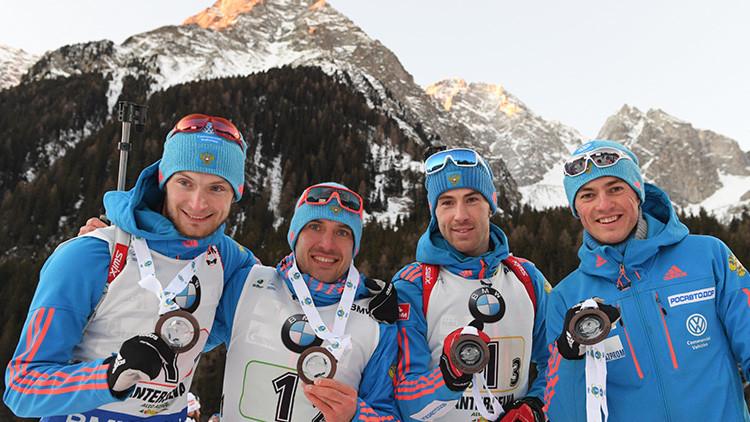 La Unión de Biatlón cierra 22 de los 29 casos contra deportistas rusos