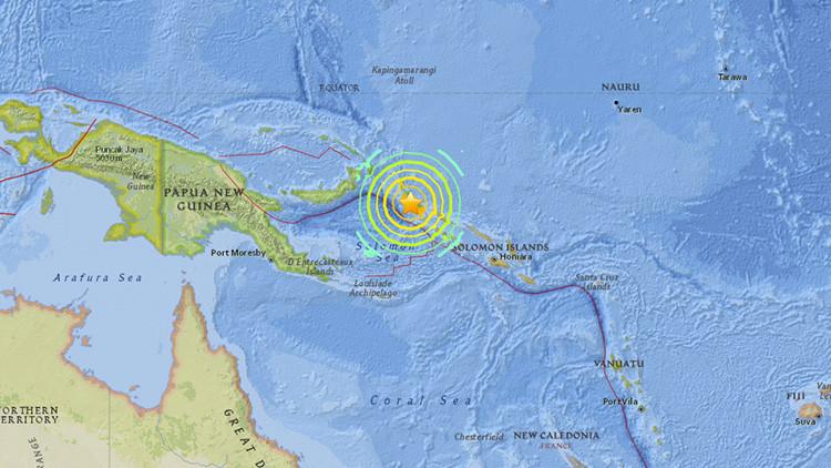 Un terremoto de 8,0 sacude Papúa Nueva Guinea