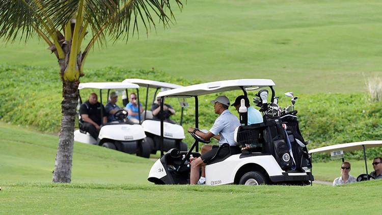 Relajamiento de élite: así fue el primer día de Obama tras la Presidencia (FOTO)