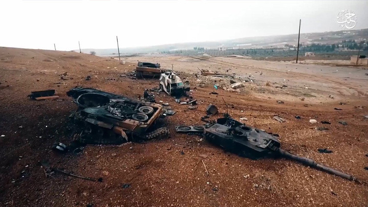 FOTOS: 'Indestructibles' tanques alemanes Leopard 2A4 destrozados en Siria