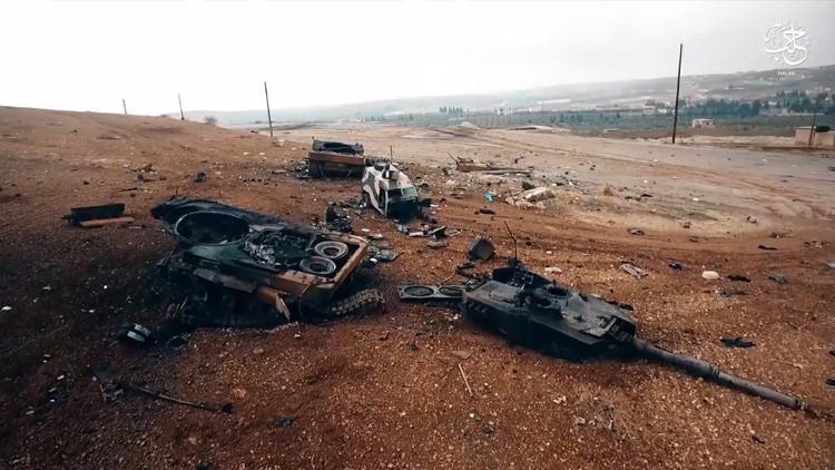 FOTOS: 'Indestructibles' tanques alemanes Leopard 2A4 destrozados en Siria