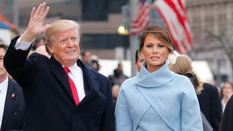 Video: Se filtra a la Red un momento incómodo vivido por los Trump durante la investidura