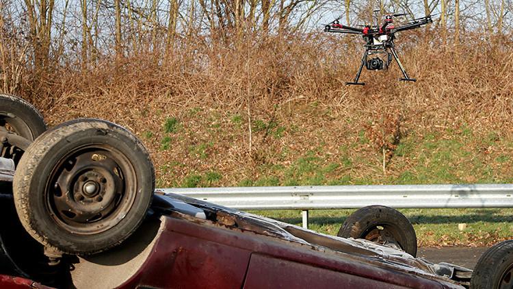 Un camión choca contra un caza en Bélgica
