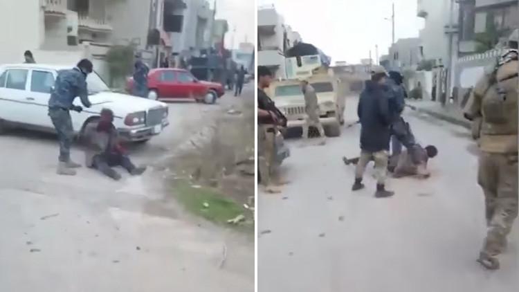 FUERTES IMÁGENES: Un video de soldados iraquíes que torturan a milicianos del EI enfurece a la ONU
